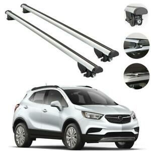 Buick Encore Chevrolet Trax 2013 2019 Roof Racks Cross Bars Rails Silver Alu Set