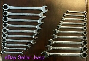 New Craftsman 20 Pc Combination Ratcheting Wrench Set Metric Sae 46820