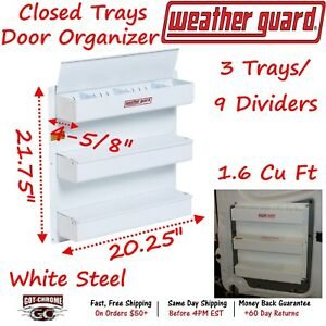 9871 3 01 Weather Guard Van Storage Three Tray Door Organizer With Lids