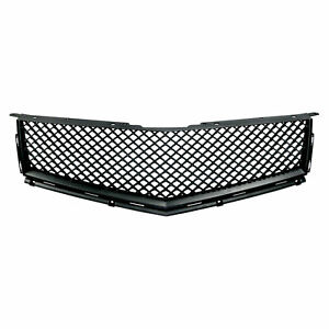 Premium Fx Black Bentley Style Mesh Replacement Grille For 2010 13 Cadillac Srx