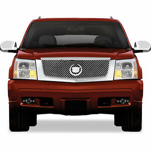 Premium Fx Chrome Abs Mesh Replacement Grille For 2002 2006 Cadillac Escalade