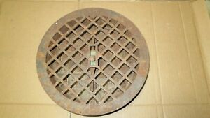 11 Round Cast Iron Grate Vent Cover W Louvers Craftsman Wall Floor
