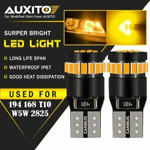 2x Amber T10 168 194 Led Side Marker Light Bulbs Yellow For Gmc Chevy Ford Eoa