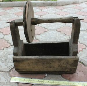 Vintage Old Rustic Wooden Carpenter Tool Box Primitive Tote