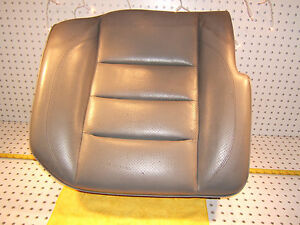 Mercedes W124 500e Sportline Recaro Rear R Pass Leather Gray Seat Lower 1 Seat