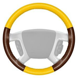 For Honda Civic 03 05 Steering Wheel Cover Europerf Perforated Yellow Steering