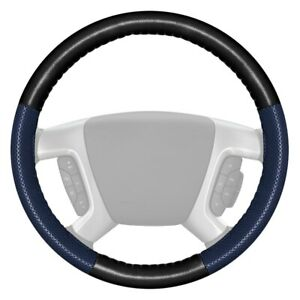 Wheelskins Europerf Perforated Black Steering Wheel Cover W Blue Sides Color