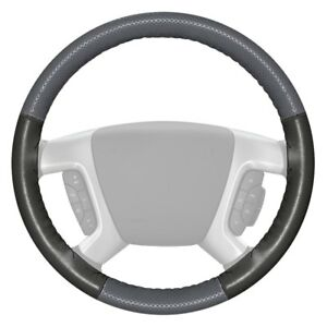 Wheelskins Europerf Perforated Gray Steering Wheel Cover W Charcoal Sides Color