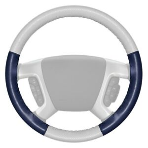 Wheelskins Europerf Perforated White Steering Wheel Cover W Blue Sides Color