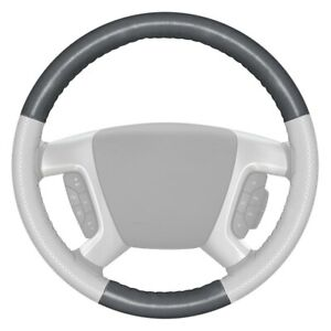 Wheelskins Europerf Perforated Gray Steering Wheel Cover W White Sides Color