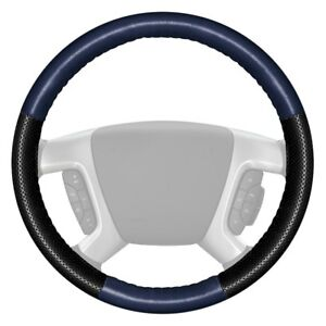 Wheelskins Europerf Perforated Blue Steering Wheel Cover W Black Sides Color