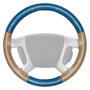 For Saturn Ion 03 04 Steering Wheel Cover Eurotone Two color Sea Blue Steering