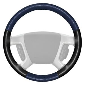 For Chevy Camaro 17 20 Steering Wheel Cover Europerf Perforated Blue Steering