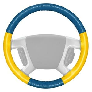 For Dodge Charger 06 09 Steering Wheel Cover Europerf Perforated Sea Blue