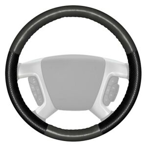 For Nissan Titan 17 18 Steering Wheel Cover Europerf Perforated Charcoal