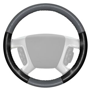 For Cadillac Escalade 15 18 Steering Wheel Cover Europerf Perforated Gray