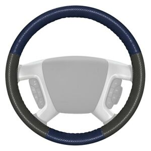 For Cadillac Escalade 15 18 Steering Wheel Cover Europerf Perforated Blue