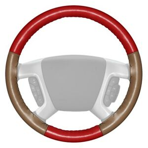 For Lincoln Navigator 15 19 Steering Wheel Cover Eurotone Two color Red Steering