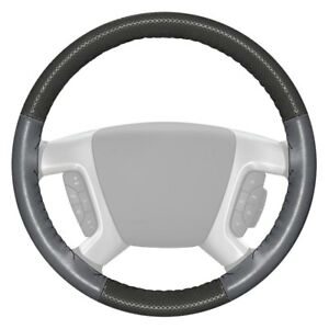 Wheelskins Europerf Perforated Charcoal Steering Wheel Cover W Gray Sides Color