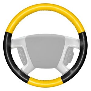For Chevy Silverado 1500 14 16 Steering Wheel Cover Eurotone Two color Yellow