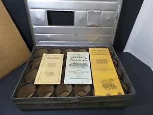 Antique Original Metal Two Dozen Egg Shipping Crate With Instructions Brochures