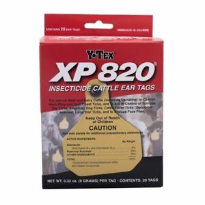 Y tex Corporation Xp820 20 Count Per Box Insecticide Cattle Ear Tags