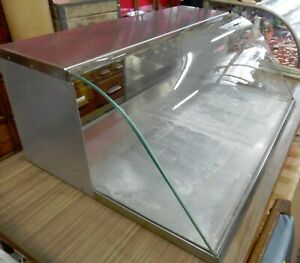 Stainless Glass Slant Front Commercial Bakery Candy Counter Top Display Case