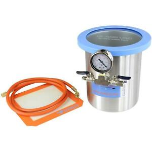 1 5 Gallon Stainless Steel Glassvac Vacuum Chamber For Wood Stabilization