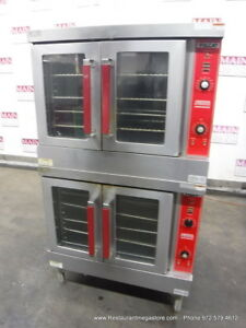 Vulcan Vc4gd 10 Gas Double Deck Full Size Convection Oven On Casters