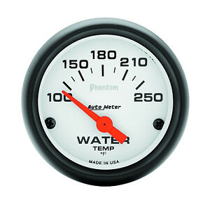 Auto Meter Phantom 100 250 Deg F Electric Water Temperature Gauge 2 1 16 52mm