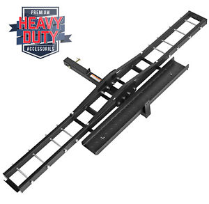 Steel Motorcycle Scooter Dirt Bike Carrier Hauler Hitch Mount Bike Rack Ramp