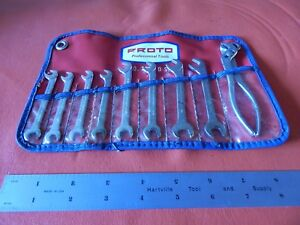 Vintage Proto Tools Ignition Wrench Set 3200 D Angle Head W Pliers Very Nice