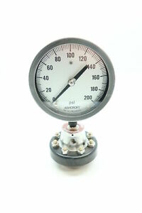 Ashcroft Pressure Gauge 0 200psi 1in Npt