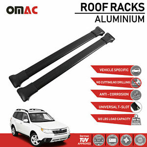 Roof Rack Cross Bars Luggage Carrier Black For Subaru Forester 2009 2013