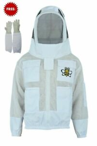 Ventilated Bee 3 Layer Uv Beekeeping Beekeeper Jacket Fancy Veil