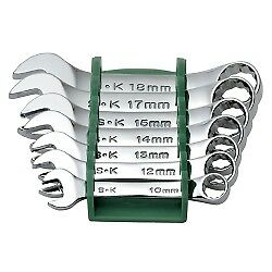 Sk Hand Tool 86247 7 Piece Superkrome Metric Short Combination Wrench Set