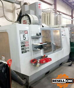 2007 Haas Vf 5ss Cnc Vertical Mill With Haas Tr 160 Trunnion