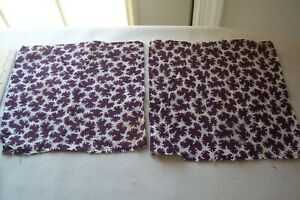 Vtg Antique 1800 S 19c Civil War Era Fabric Quilt Scrap Blocks Repair Purple