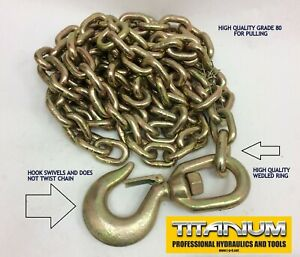 Auto Body Frame Machine Tower Pull Chain Heavy Duty Welded Swivel Slip Hook