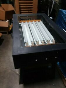 Screen Printing Exposure Table With Press Screens wash Tub And Supplies