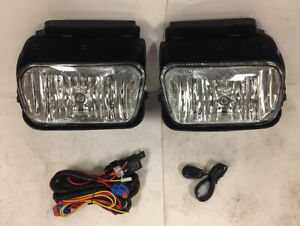 Chrome Clear Bumper Fog Lights Lamps Wiring Kit For 03 06 Silverado Avalanche