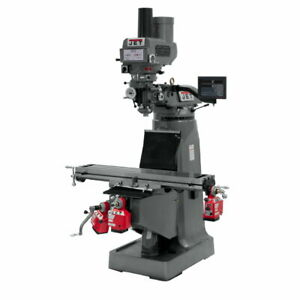 Jet 691171 Jtm 4vs 1 Mill 3 axis Newall Dp700 Dro Quill X Y Z axis Feed Draw Bar