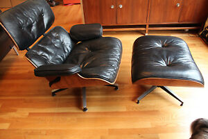 Herman Miller Eames Rosewood Lounge Chair And Ottoman 2nd Generation
