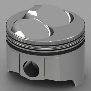 Icon Forged Piston Set Fits Chevy 302 Rod 5 700 Hollow Dome 12 7cc 2v