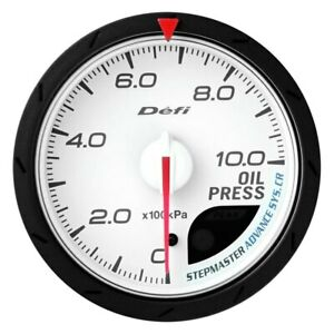 Defi Df08901 Advance Cr 60mm Oil Pressure Gauge