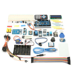 For Arduino Mega 2560 Starter Learning Kits Relay Motor Buzzer W 1602 Lcd Rfid