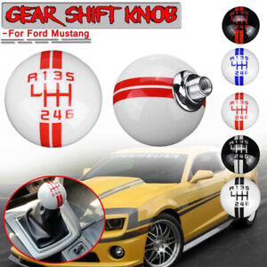 New For Ford Mustang Gt500 5 Speed Manual Gear Shift Knob Shifter White Ball