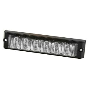 Ecco 3705a 6 25 6 led Surface Mount Amber Strobe Light