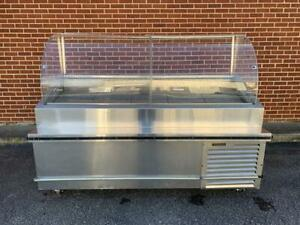 Refrigerated Traulsen Stainless Steel 78 Deli Seafood Case Td078ht zsc01