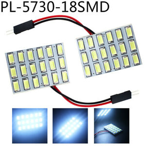 50x Cold White Festoon T10 5730 18smd Led Panel Interior Light For Dome 12v